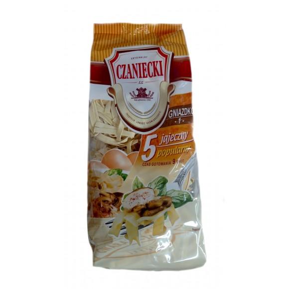 Czaniecki Noodles 5 eggs/ gniazdko 1, (500g) (W)