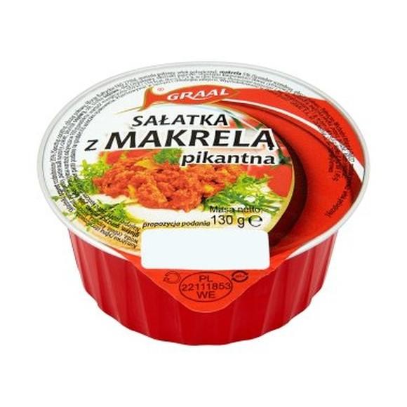 Graal Mackerel Salad Spicy / Salatka z Makrela Pikantna 130g (W)