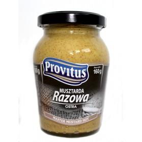 Provitus Mustard Hot / Musztarda Razowa Ostra 160g/4.5oz (W)