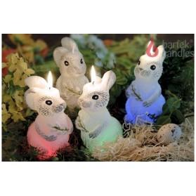Bartek Candle Bunny with Diode / Swieca Zajac z Dioda 100g/3.52oz (W)