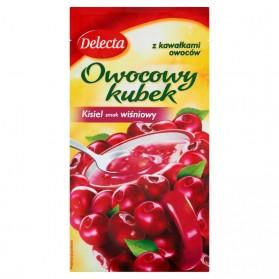 Delecta Cherry Jelly Fruit Cup / Kisiel Wiśniowy z Kawałkami Owoców 30g./1.06oz.