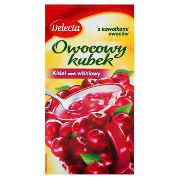 Delecta Cherry Jelly Fruit Cup / Kisiel Wiśniowy z Kawałkami Owoców 30g./1.06oz