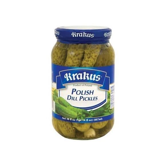 Krakus Polish Dill Pickles 887ml/30fl oz