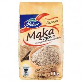 Melvit Wholemeal Rye Flour 1kg/2.20lb (W)