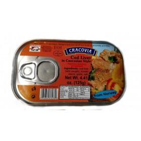 Cracovia Cod Liver in Caucasian Style 125g/4.41oz (W)