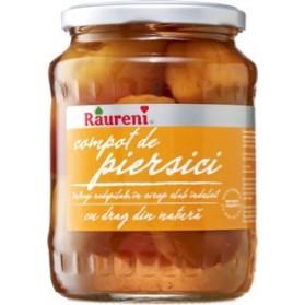 Raureni Peach Compote in Syrup 720g/25oz (W)
