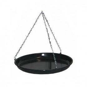 Black Enamel Open-fire Cooking Pan