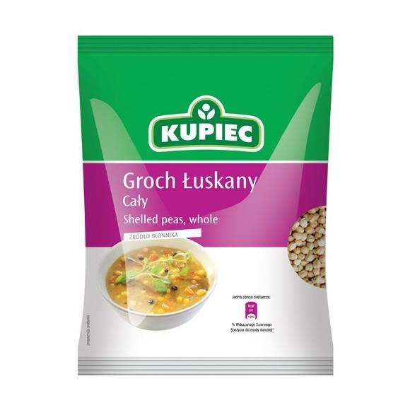 Kupiec Groch Luskany Caly / Shelled Peas,whole 400g/14oz