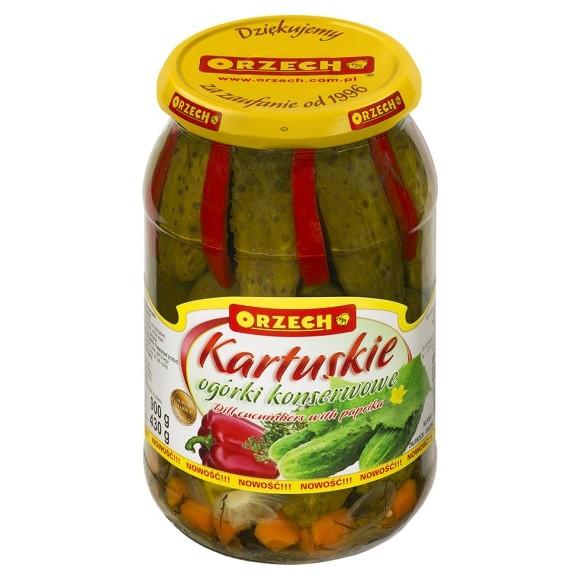 Orzech Kartuskie Dill Cucumber with Paprika 900g/31.74oz