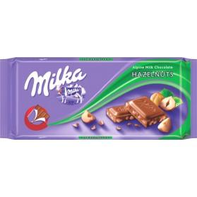 Milka Hazelnuts Alpine Milk Chocolate 100g/3.5oz