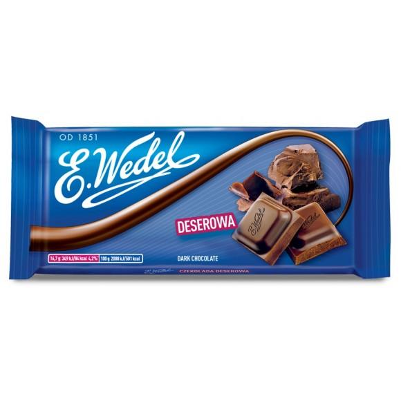 E.Wedel Dark Chocolate 100g/3.52oz