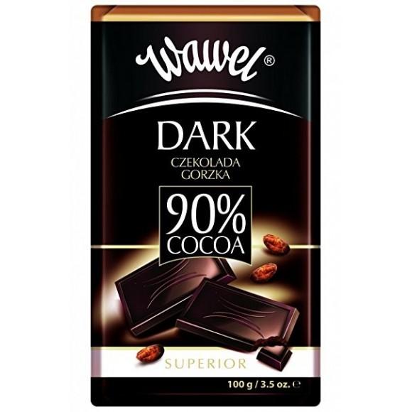 Wawel dark chocolate 90% cacoa 100g(B)