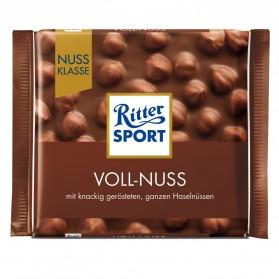Ritter Sport Voll-Nuss / Milk Chocolate with Hazelnuts 100g/3.52oz
