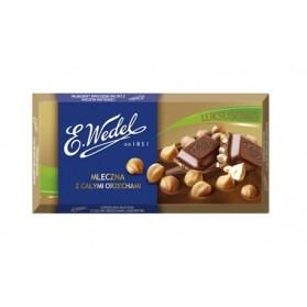 E.Wedel Luksusowa Milk Chocolate with Whole Hazelnuts 100g/3.52oz