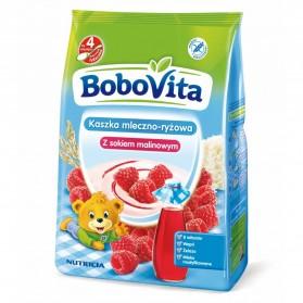 Bobovita Instant milk & rice cereal with raspberry juice 230g