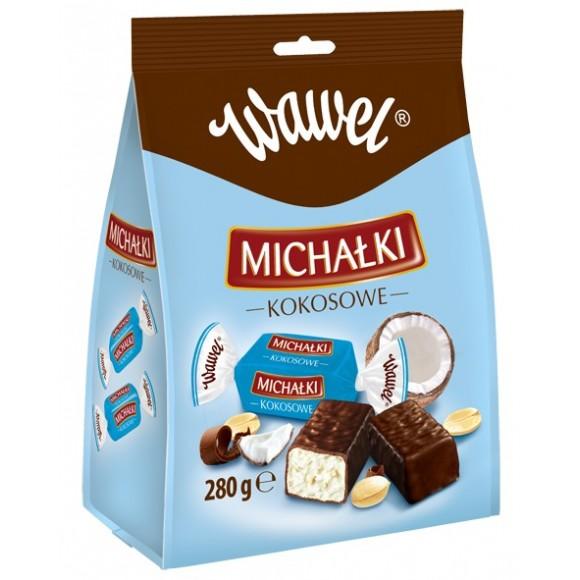 Wawel Michalki Klasyczne Chocolate Coated Peanut Candies 280g/9.88oz