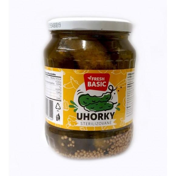 Fresh Basic Uhorky Sterilizovane / Pickles 720ml