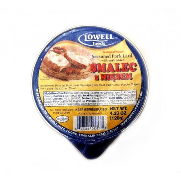 Lowell Seasoned Pork Lard with pork added 4.23oz (120g)