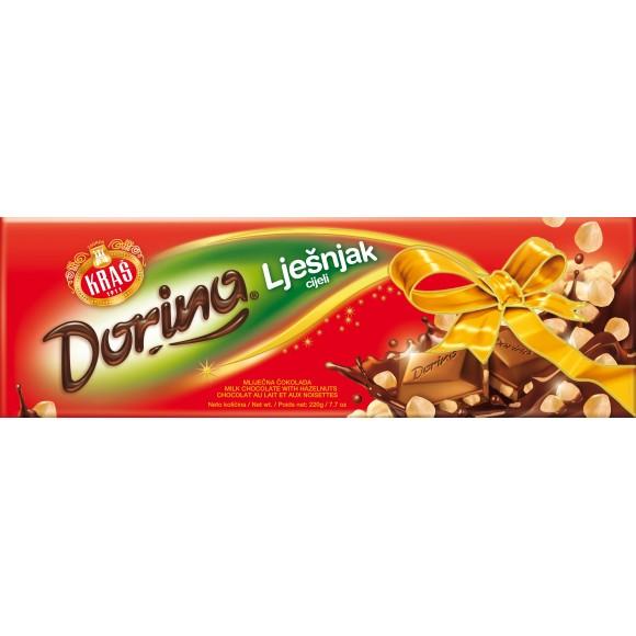 Dorina Milk Chocolate with Hazelnuts 220g