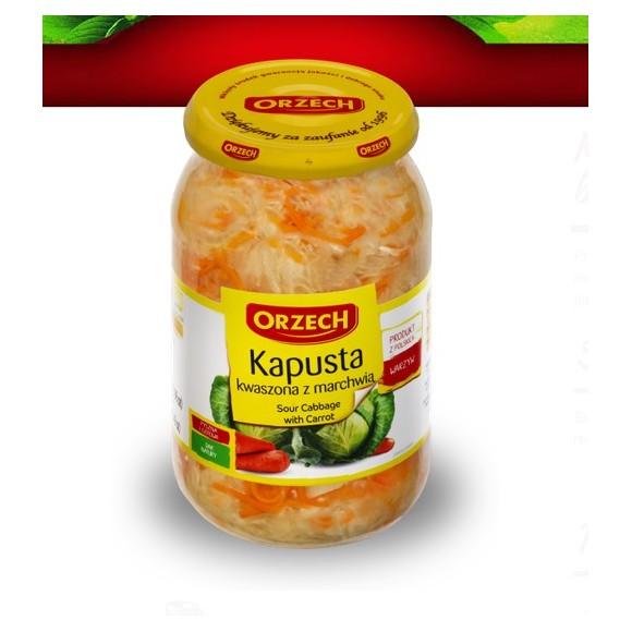Orzech Sauerkraut with carrot 900g (15.75oz)