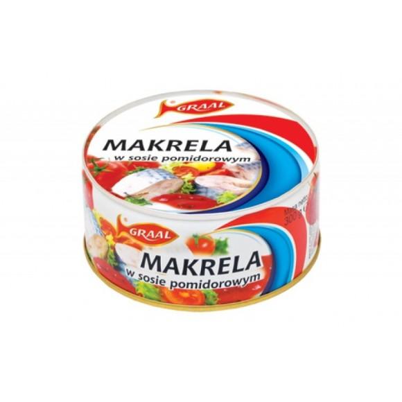 Graal Mackerel Fillets in Tomato Sauce 300g