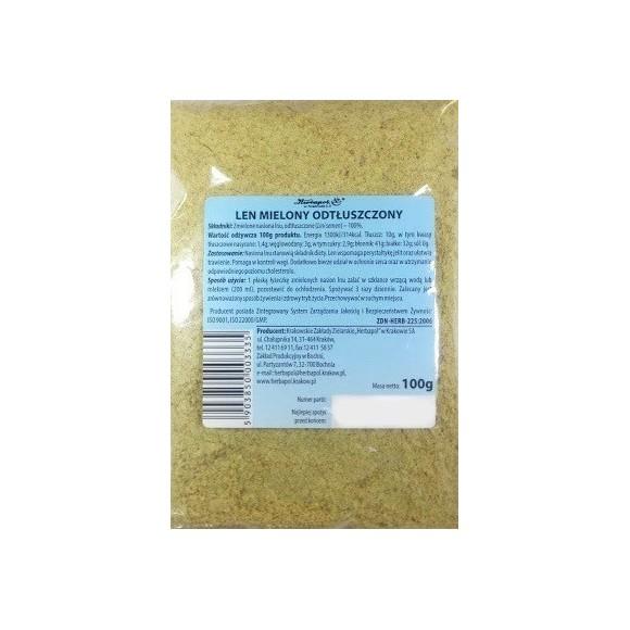 Herbapol Flax Ground Defatted 100g/3.5oz