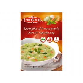 PODRAVKA Soup Cream of 9 Vegetable 19/45g PODRAVKA Soup Cream of 9 Vegetable 19/45g