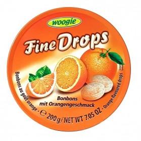 Woogie Fine Drops Orange Flavored Candies 200g/7.05oz