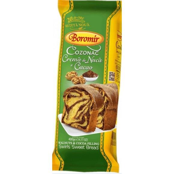 Boromir Cozonac with Walnut and Cocoa Filing 400g