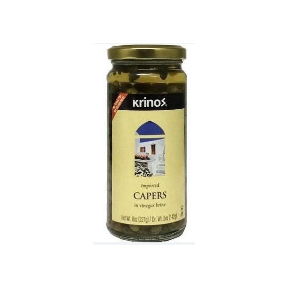 Krinos Capers in Vinegar Brine 142g