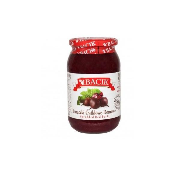 Bacik Shredded Red Beets with Horseradish 900g/31oz