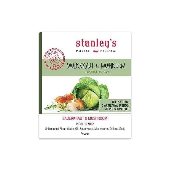 Stanley's Sauerkraut & mushroom Pierogi 16 oz