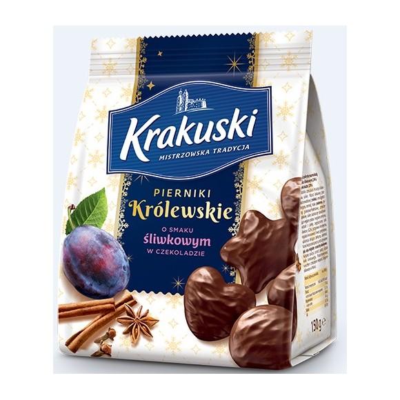 """Krakuski """"Pierniki Krolewskie"""" Gingerbread Cakes with Plum in Chocolate 150g/5.3oz"""