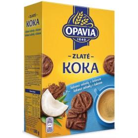 Opavia Zlate Zlate Koka/ Chocolate Biscuits with Coconut 180g/6,349oz