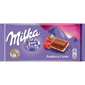 Milka Rasberry Alpenmilch Schokolade / Alpine Milk Chocolate 100g/3.52oz