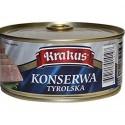 Krakus Traditional Polish Seasoned, Cured Minced Pork and Skin, Konserwa Tyrolska 10.5 oz.
