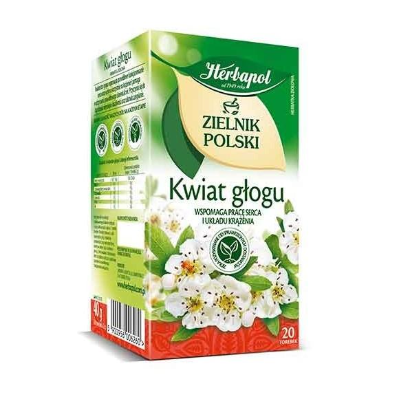 Hawthorn Flower/kwiat Glogu 20 tea bags