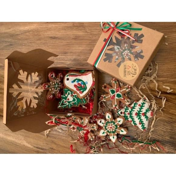 Christmas Gingerbread Handmade Cookies (Pack of 5)