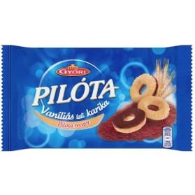 Gyori Pilota Vanilla Hoop Biscuit with Milk Chocolate - Vanilias karika 100g