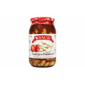 Bacik White Beans in Tomato Sauce/Fasola Jas w Pomidorach 900mL/31 oz